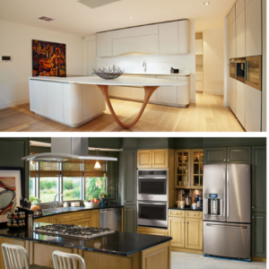 Kitchen Island Gravity Defying versus Stainless Steel Appliances